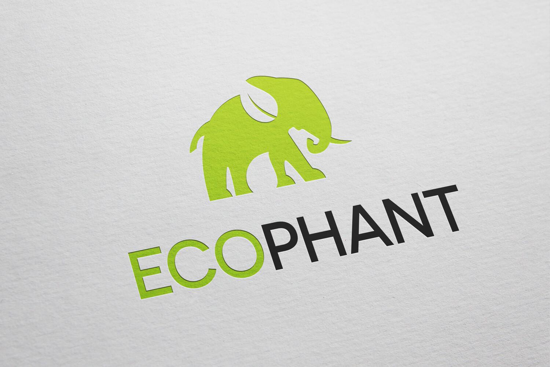 Ecologisch logo ontwerp met negatieve ruimte