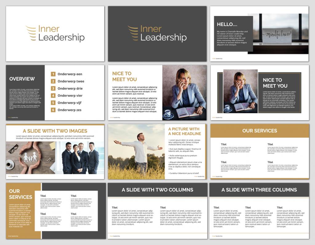 Inner Leadership PowerPoint template ontwerp