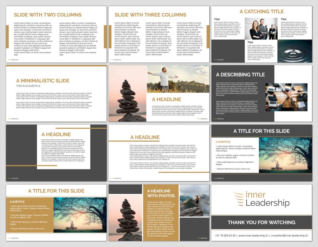 Inner Leadership - PowerPoint Template Ontwerp