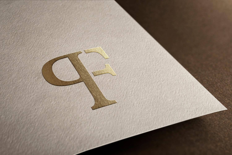 Stijlvol Elegant Klassiek Monogram PF Logo design