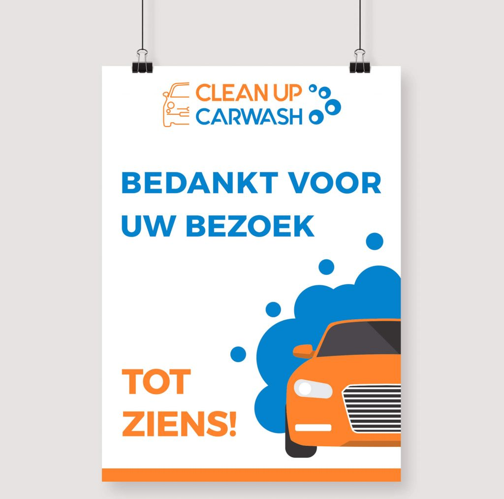 Clean Up Carwash - Poster