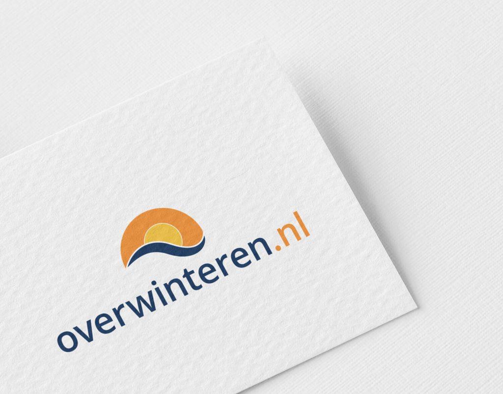 Overwinteren.nl - zonnig logo-ontwerp