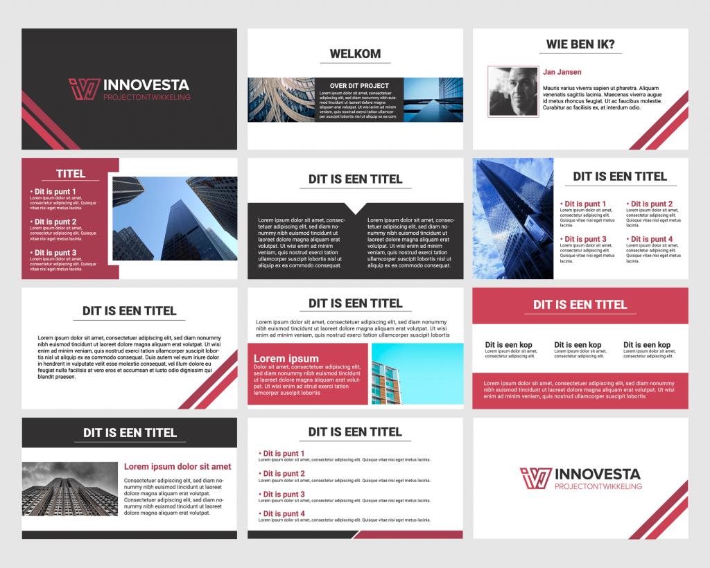 InnoVesta PowerPoint Template ontwerp