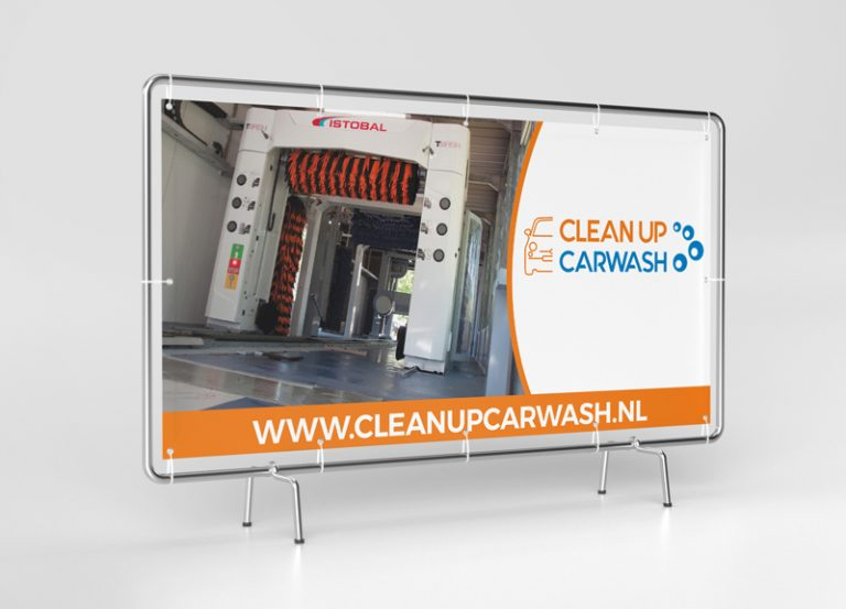 Clean Up Carwash Branding Grafisch Vormgeving - Homepage