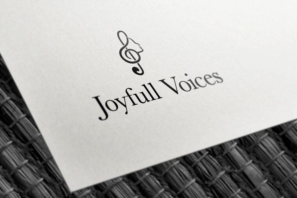 Joyfull Voices - Logo ontwerp in zwart wit