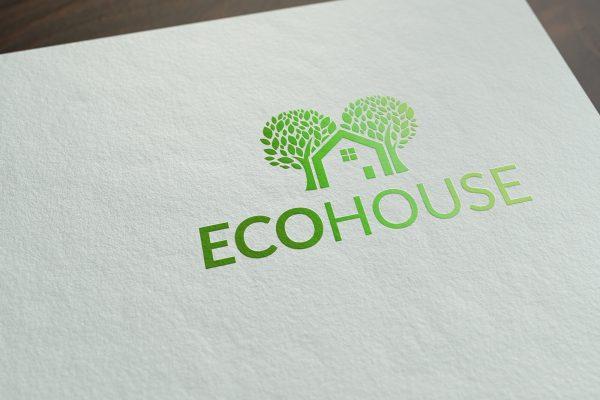 ecohouse ecologisch logo op papier