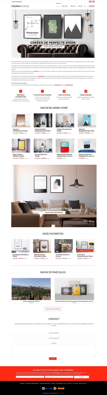 webshop bouwen mdrnhome homepage