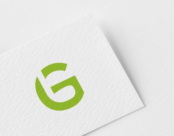 Golf logo ontwerp golf club negatieve ruimte