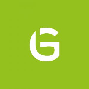 Golf logo ontwerp negatieve ruimte