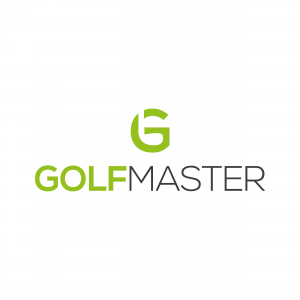 Golf logo ontwerp negative space