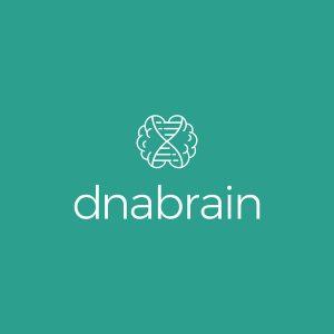 strak modern en zakelijk brein logo ontwerp