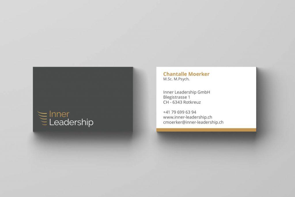 Leadership business cards design