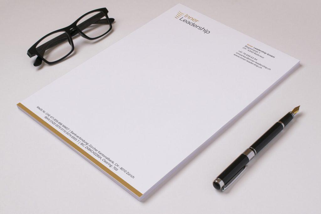 Leadership letterhead design