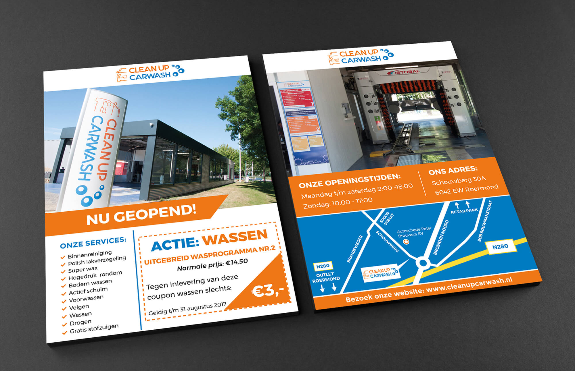 carwash flyer design