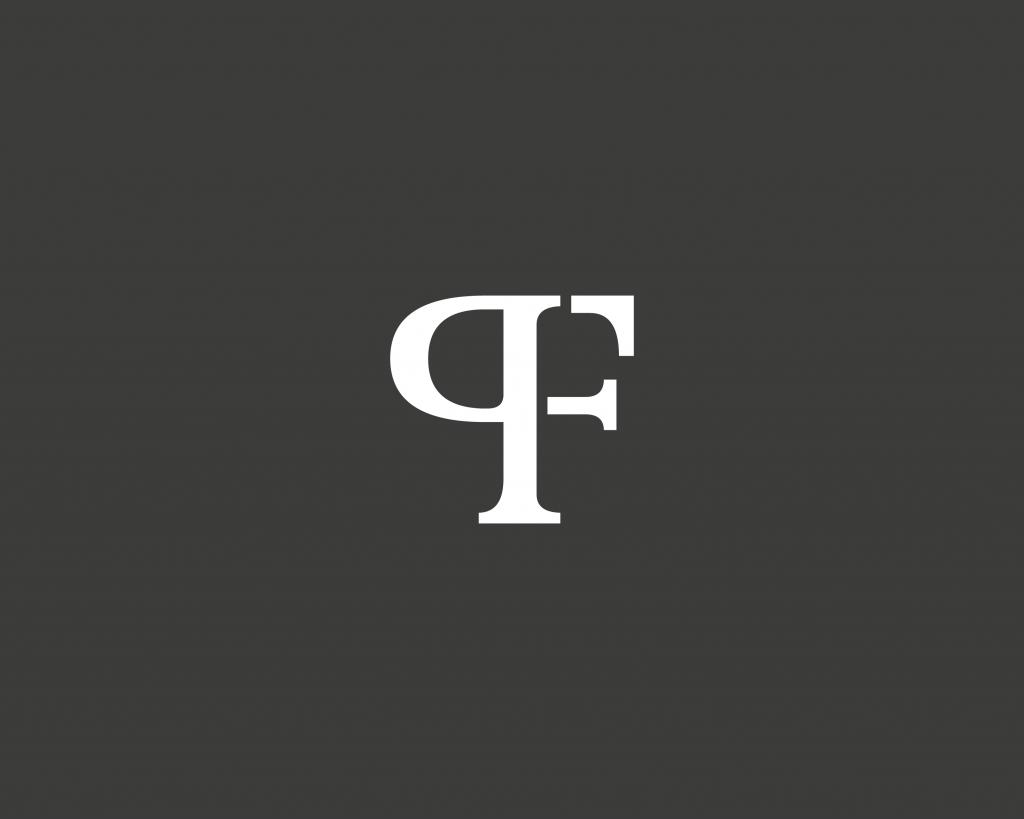 PF monogram - classy and elegant logo design