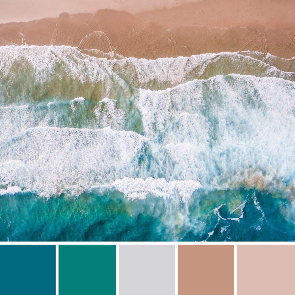 Kleurenschema - zee