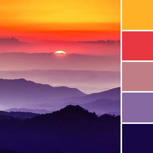 Kleurinspiratie uit de natuur - zonsondergang