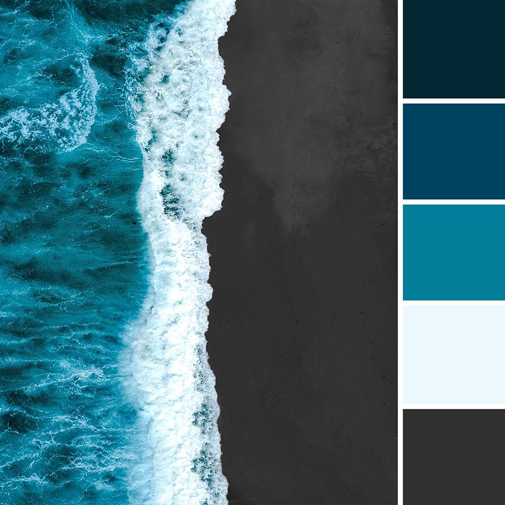 Zee - donker kleurenpallet