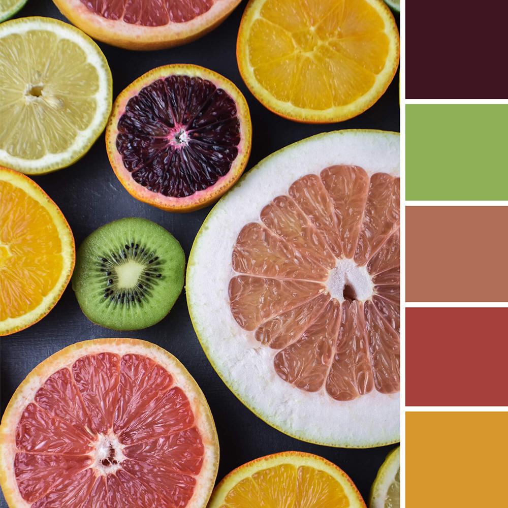 kleurinspiratie uit de natuur - citrusvruchten