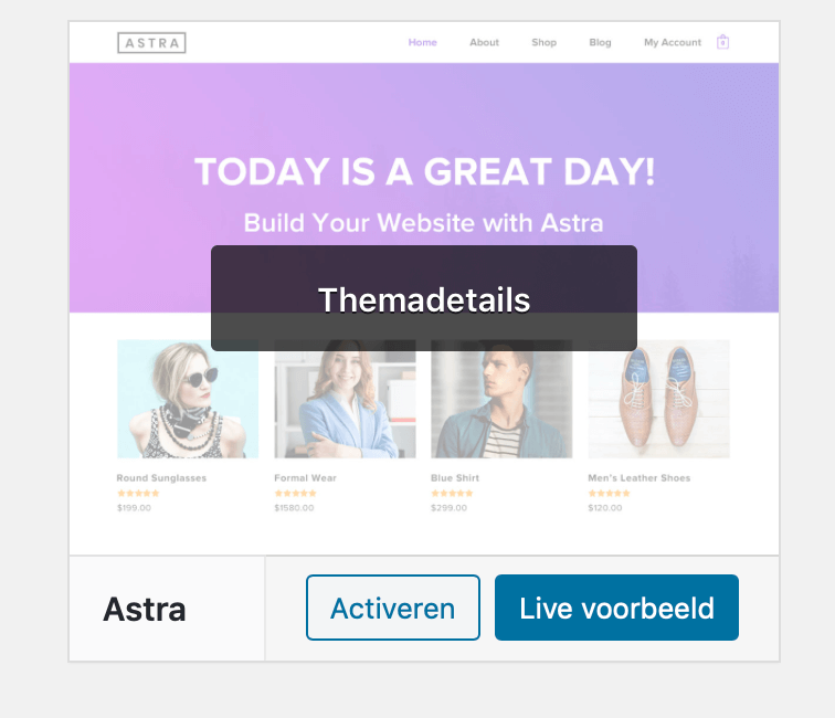 Wordpress website testen via live voorbeeld