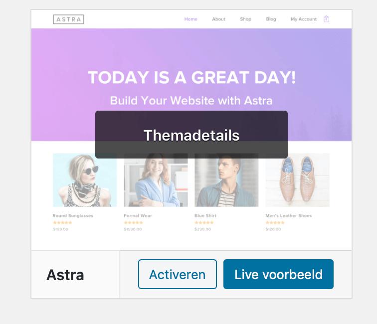 Wordpress website testen via live voorbeeld