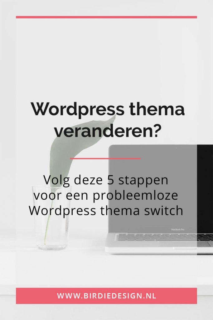 wordpress thema veranderen