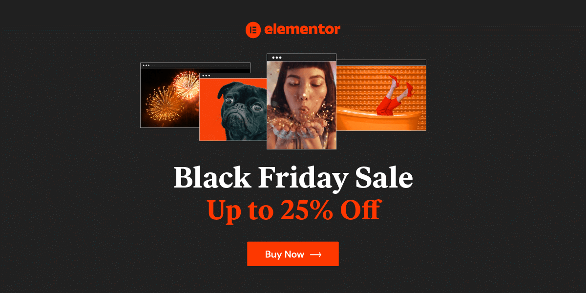Elementor Pro - Black Friday Deals 2020