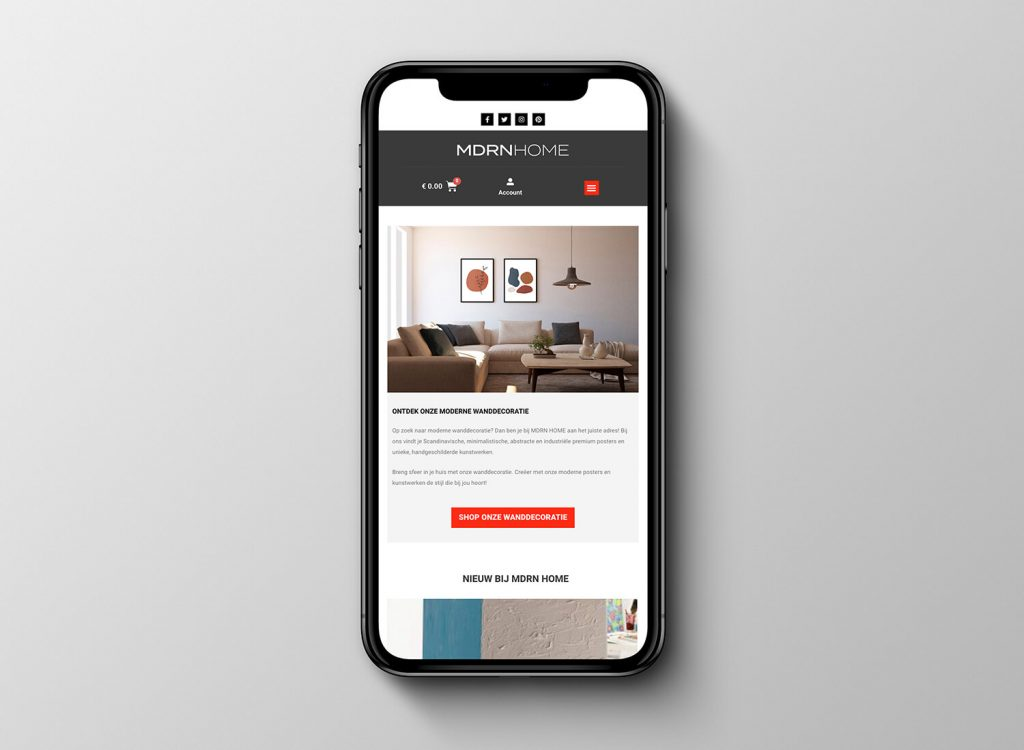 Wall art website redesign mobile friendly