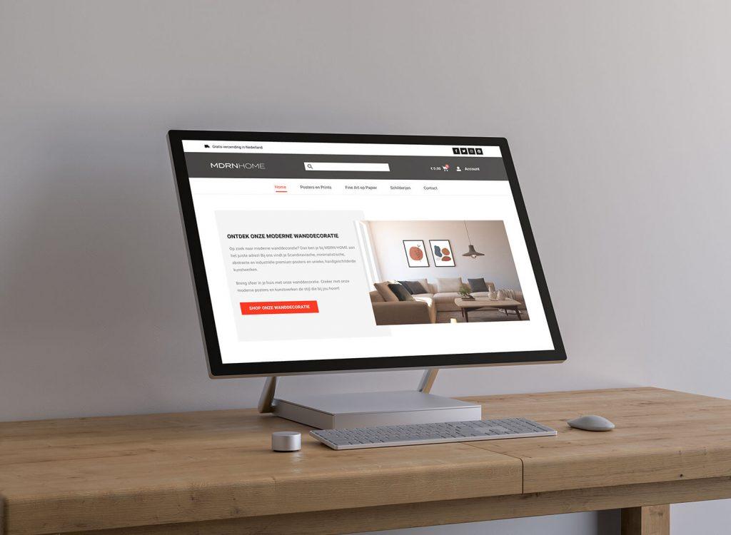 nieuwe website mdrn home